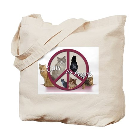 Cats for Peace Tote Bag