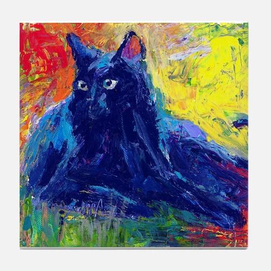 Black Cat 6 Tile Coaster