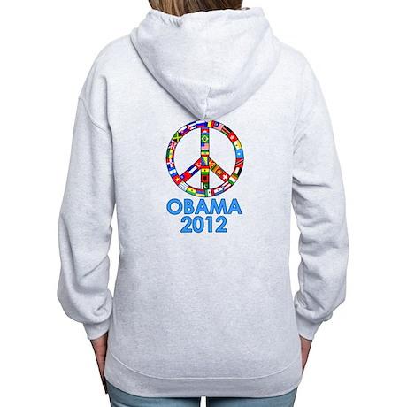 Re Elect Obama in 2012 Women's Zip Hoodie