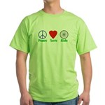 Peace-Love-Ride Green T-Shirt