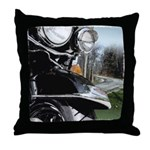 Motorcycle Curves Throw Pillow