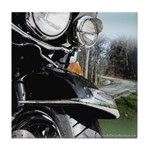 Motorcycle Curves Tile Coaster