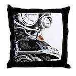 Motorcycle Close Up Throw Pillow