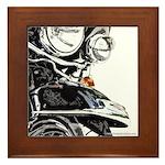 Motorcycle Close Up Framed Tile