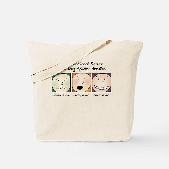 Agility Handler Emotions Tote Bag