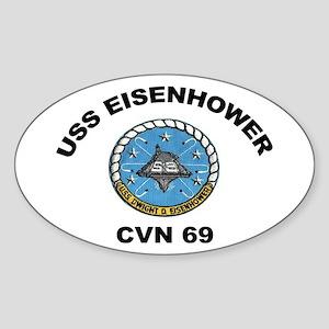USS Eisenhower CVN-69 Oval Sticker