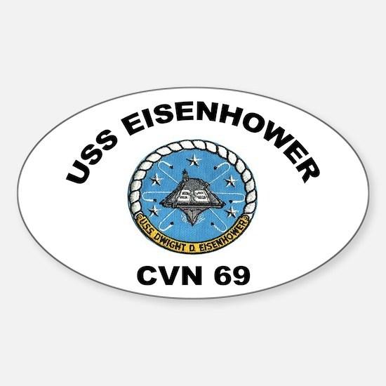 USS Eisenhower CVN-69 Oval Decal