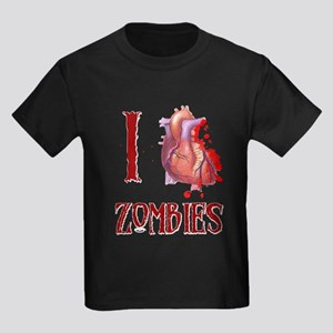 I *heart* Zombies Kids Dark T-Shirt