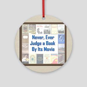 Book vs. Movie Ornament (Round)