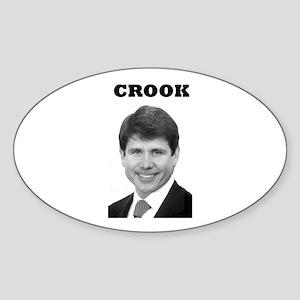 Crook Oval Sticker