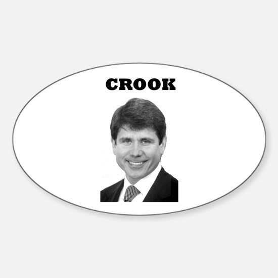 Crook Oval Decal