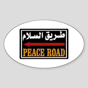 Peace Rd, Egypt Oval Sticker