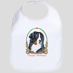 Bernese Mountain Dog Holiday  Bib
