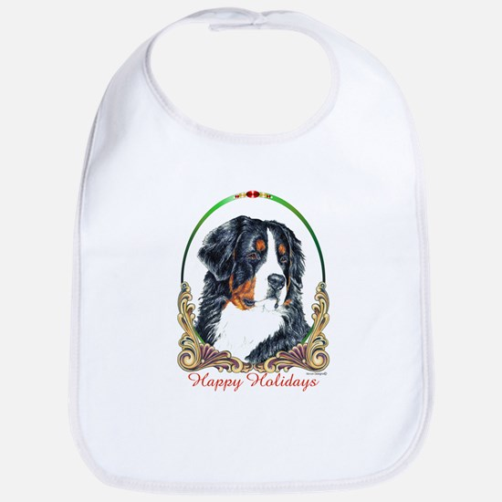 Bernese Mountain Dog Holiday  Bib