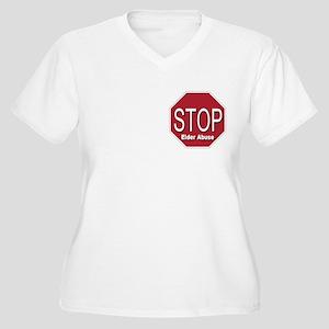 Stop Elder Abuse Women's Plus Size V-Neck T-Shirt