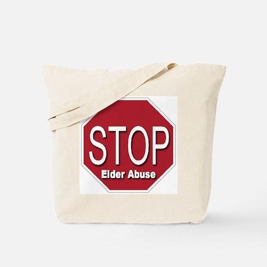 Stop Elder Abuse Tote Bag