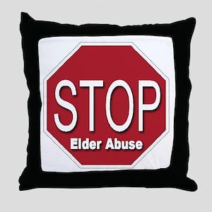 Stop Elder Abuse Throw Pillow