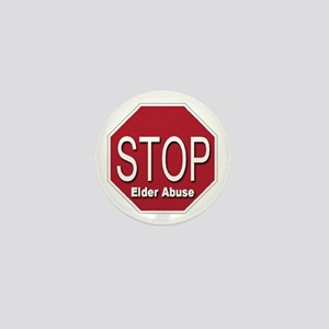 Stop Elder Abuse Mini Button