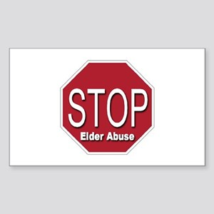 Stop Elder Abuse Rectangle Sticker