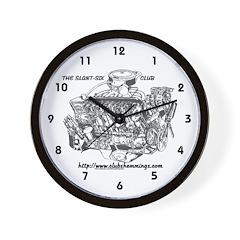 Slant Six Club Wall Clock