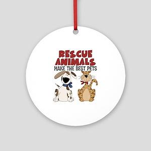 Rescue Animals Ornament (Round)