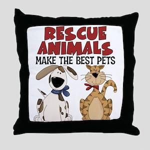 Rescue Animals Throw Pillow