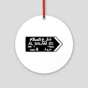 Al Salam St, Dubai (UAE) Ornament (Round)