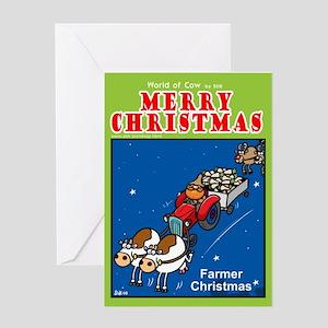Farmer Christmas Greeting Card