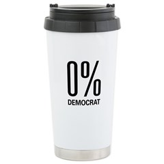 0% Democrat Stainless Steel Travel Mug