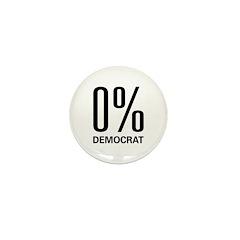 0% Democrat Mini Button (100 pack)