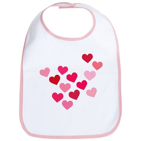 Pink Hearts Bib