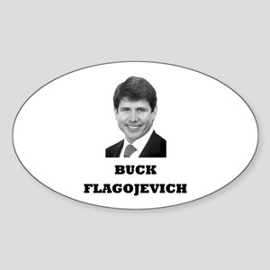 Buck Flagojevich Oval Sticker