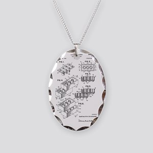 Lego Patent Necklace Oval Charm