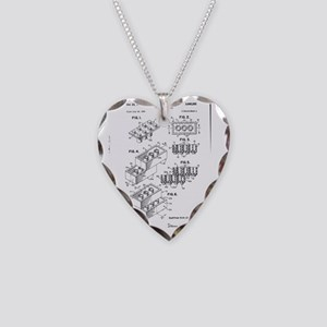 Lego Patent Necklace Heart Charm