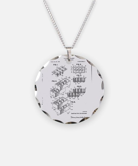 Lego Patent Necklace Circle Charm