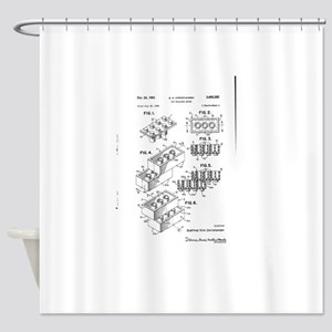 Lego Patent Shower Curtain