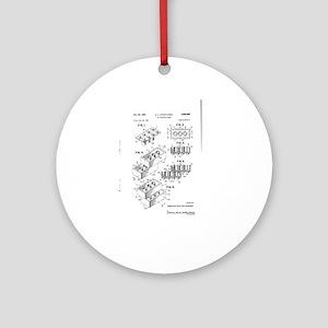 Lego Patent Round Ornament