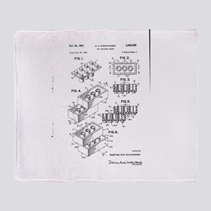 Lego Patent Throw Blanket