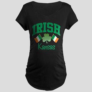 IRISH KANSAS Maternity Dark T-Shirt
