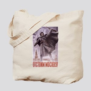 We'll Defend Moscow ussr Tote Bag