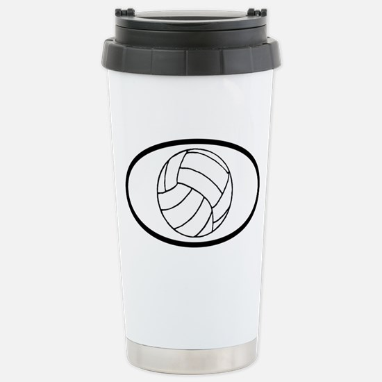 Volleyball Stainless Steel Travel Mug