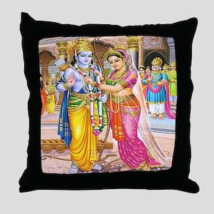 Wedding of Rama and Sita Throw Pillow