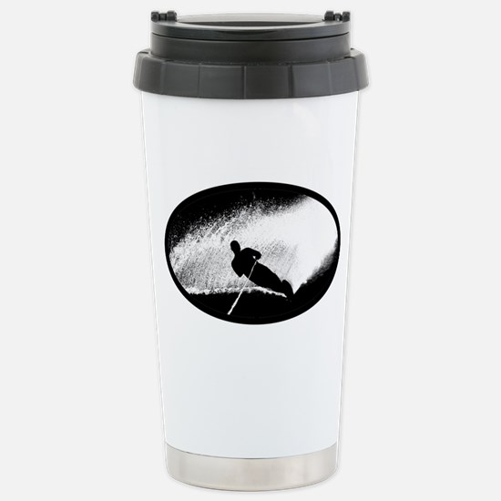 Water Skiing Stainless Steel Travel Mug
