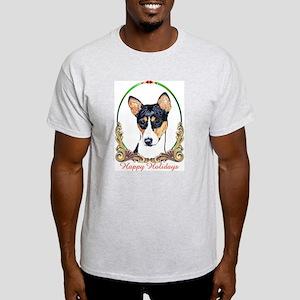 Basenji Holiday Ash Grey T-Shirt