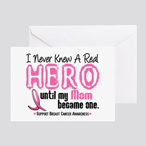Never Knew A Hero 4 PINK (Mom) Greeting Card