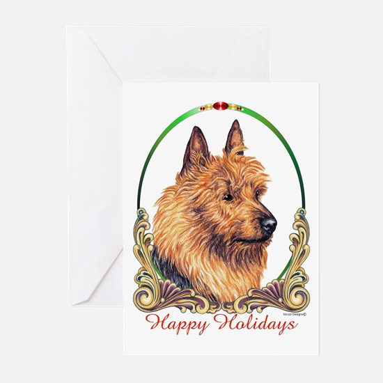 Australian Terrier Holiday Greeting Cards (Package