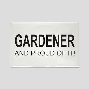 The Proud Gardener Rectangle Magnet