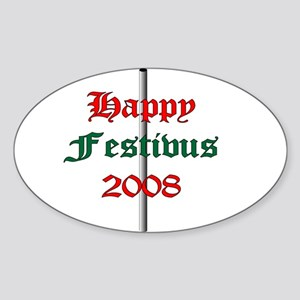 happy FESTIVUS™ Oval Sticker