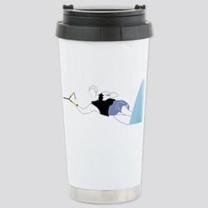 Slalom Skier Stainless Steel Travel Mug