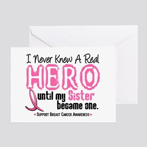Never Knew A Hero 4 PINK (Sister) Greeting Card